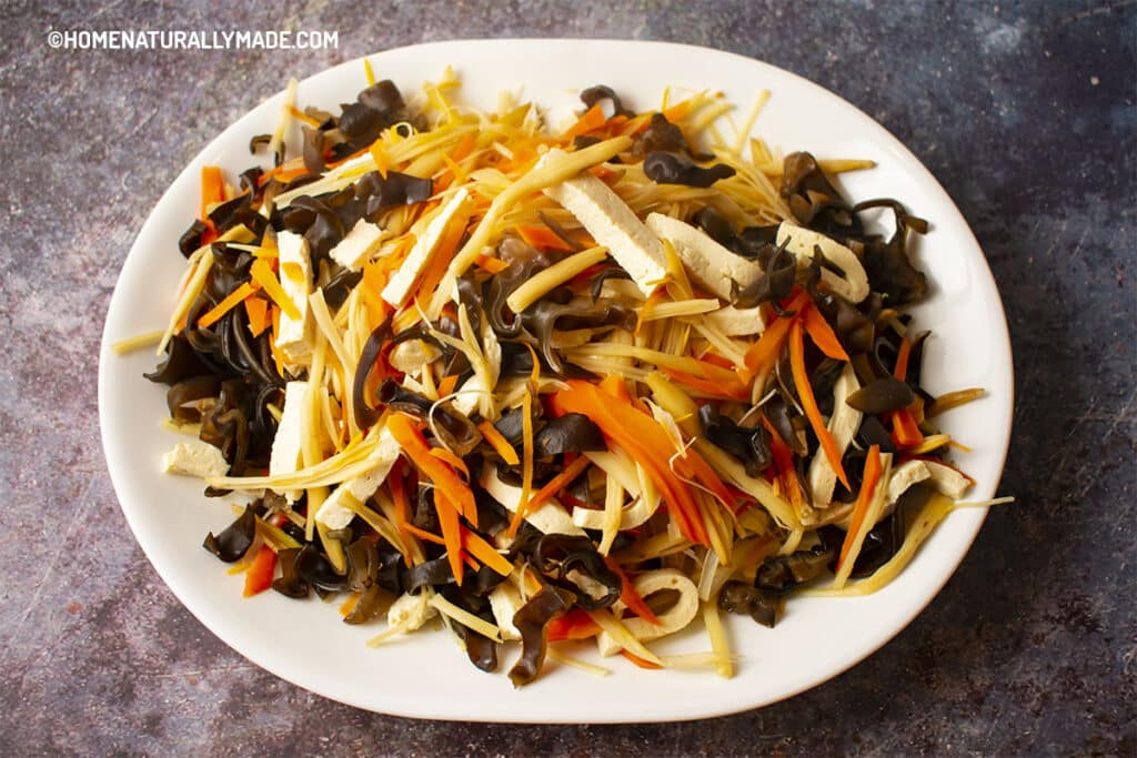 Blanched Vegetable Slices