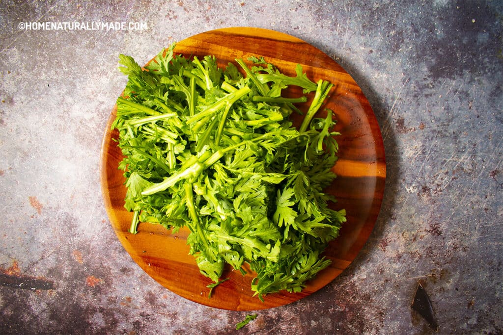 Chopped Tong Hao for Soup